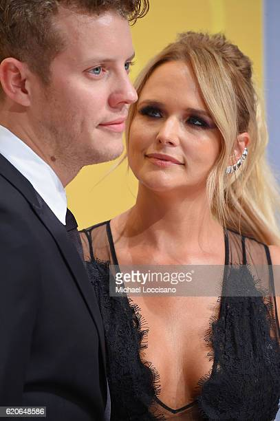 Anderson East and Miranda Lambert attends the 50th annual CMA Awards at the Bridgestone Arena on November 2 2016 in Nashville Tennessee