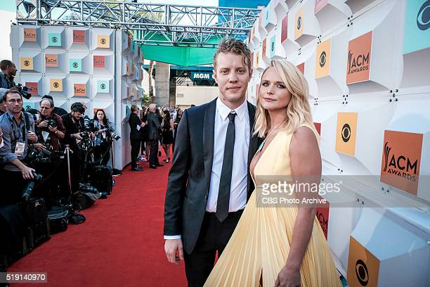 Anderson East and Miranda Lambert on The Red Carpet at the 51st ACADEMY OF COUNTRY MUSIC AWARDS cohosted by Luke Bryan and Dierks Bentley from the...