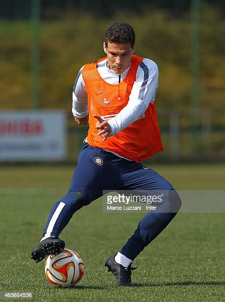 Anderson Hernanes of FC Internazionale Milano in action during FC Internazionale training session at the club's training ground on March 9 2015 in...