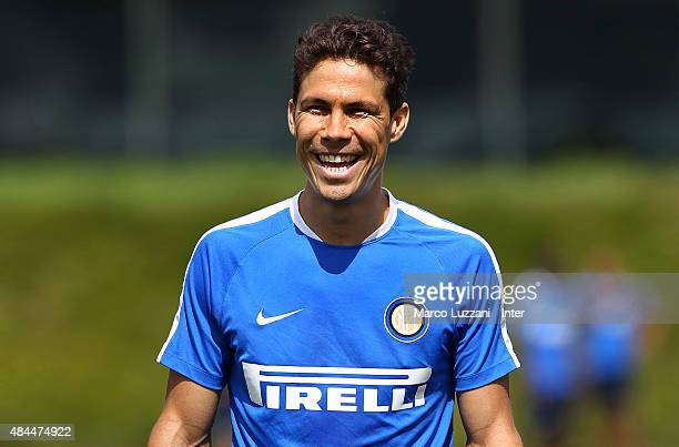 Anderson Hernanes of FC Internazionale Milano looks on during FC Internazionale training session at the club's training ground on August 19 2015 in...