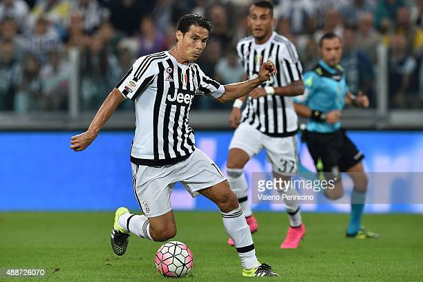 Anderson Hernanes of Juventus FC in action during the Serie A match between Juventus FC and AC Chievo Verona at Juventus Arena on September 12 2015...