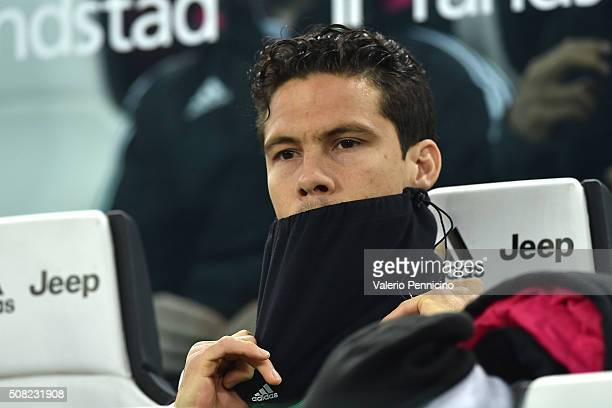 Anderson Hernanes of Juventus FC looks on during the Serie A match between Juventus FC and AS Roma at Juventus Arena on January 24 2016 in Turin Italy