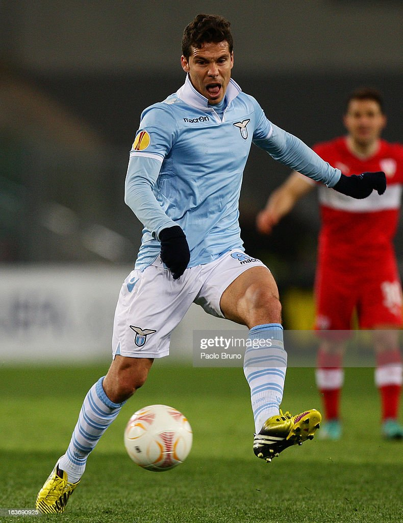 Anderson Hernanes of S.S. Lazio in action during the UEFA Europa League Round of 16 second leg match between S.S. Lazio and VfB Stuttgart at Stadio Olimpico on March 14, 2013 in Rome, Italy.