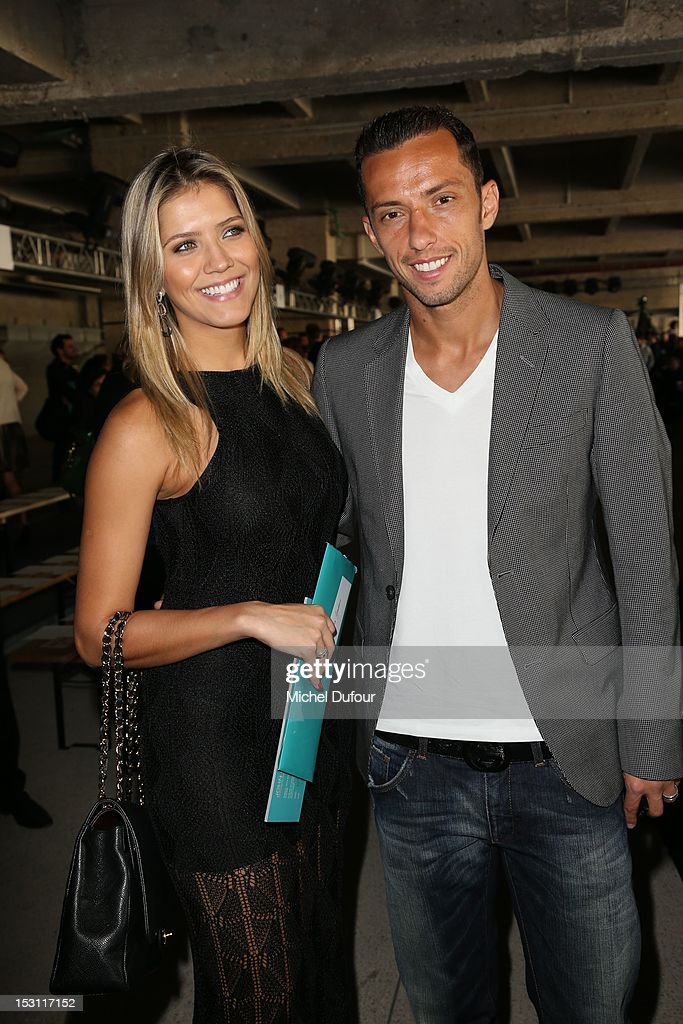 Anderson Luiz de Carvalho and girlfriend Jessica Guarducci attend the John Galliano Spring / Summer 2013 show as part of Paris Fashion Week on September 30, 2012 in Paris, France.
