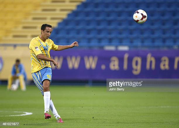 Anderson Luiz Nene of Al Gharafa in action during the friendly match between Al Gharafa SC and Schalke 04 at the Al Gharafa Stadium on January 6 2014...