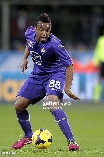 Anderson of ACF Fiorentina in action during the Serie A matc between ACF Fiorentina and Atalanta BC at Stadio Artemio Franchi on February 8 2014 in...