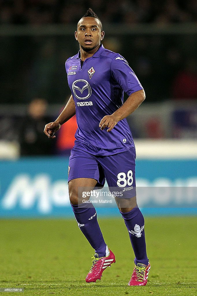 Anderson of ACF Fiorentina in action during the Serie A match between ACF Fiorentina and Genoa CFC at Stadio Artemio Franchi on January 26, 2014 in Florence, Italy.