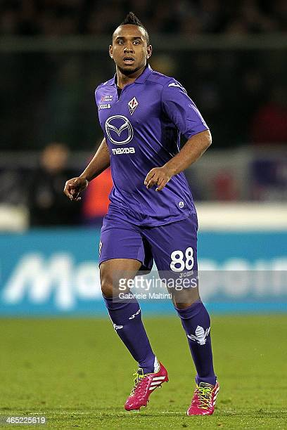 Anderson of ACF Fiorentina in action during the Serie A match between ACF Fiorentina and Genoa CFC at Stadio Artemio Franchi on January 26 2014 in...