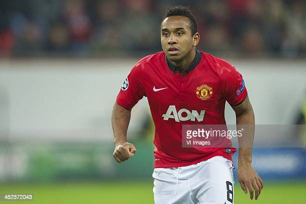 Anderson of Manchester United during the Champions League match between Bayer Leverkusen and Manchester United on November 27 2013 at the BayArena in...