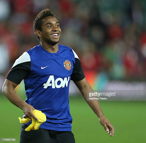Anderson of Manchester United in action during a first team training session as part of their preseason tour of Bangkok Australia China Japan and...