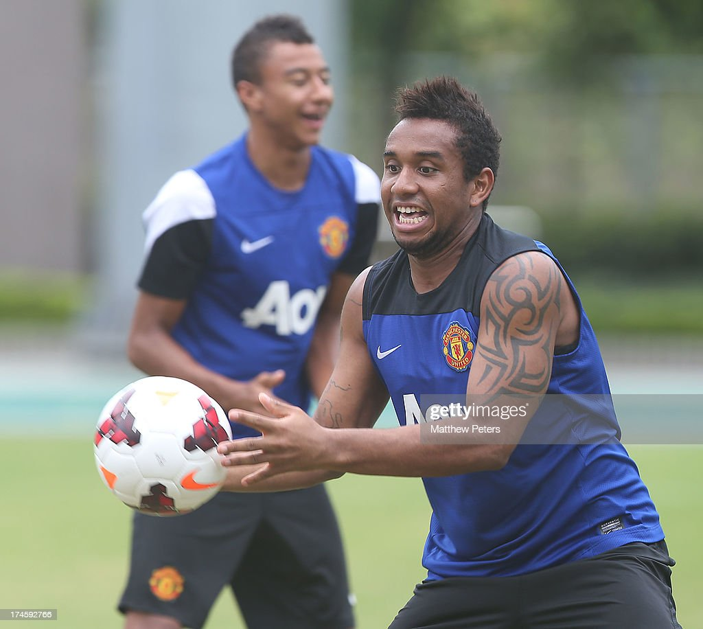 Anderson of Manchester United in action during a first team training session as part of their pre-season tour of Bangkok, Australia, Japan and Hong Kong on July 28, 2013 in Hong Kong, Hong Kong.