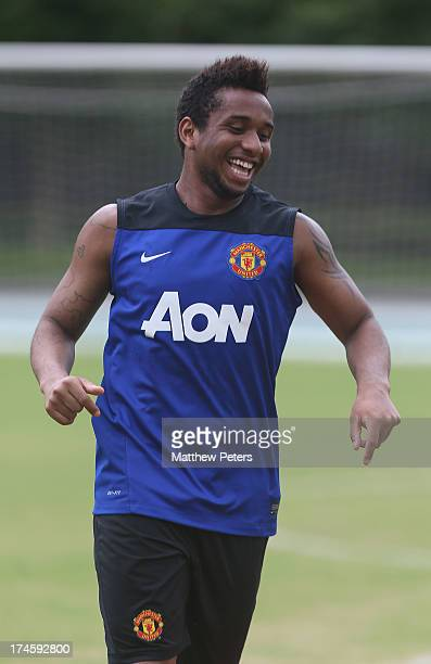 Anderson of Manchester United in action during a first team training session as part of their preseason tour of Bangkok Australia Japan and Hong Kong...