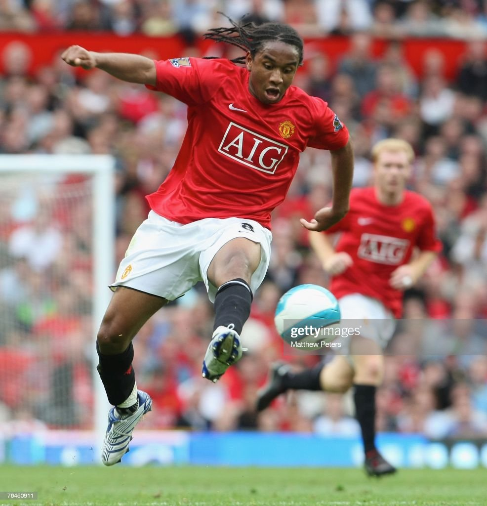 Anderson of Manchester United in action during the Barclays FA Premier League match between Manchester United and Sunderland at Old Trafford on September 1 2007, in Manchester, England.