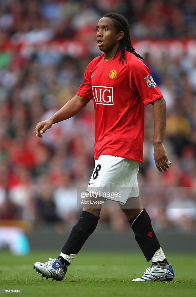 Anderson of Manchester United in action during the Barclays Premier League match between Manchester United and Sunderland at Old Trafford on September 1, 2007 in Manchester, England.