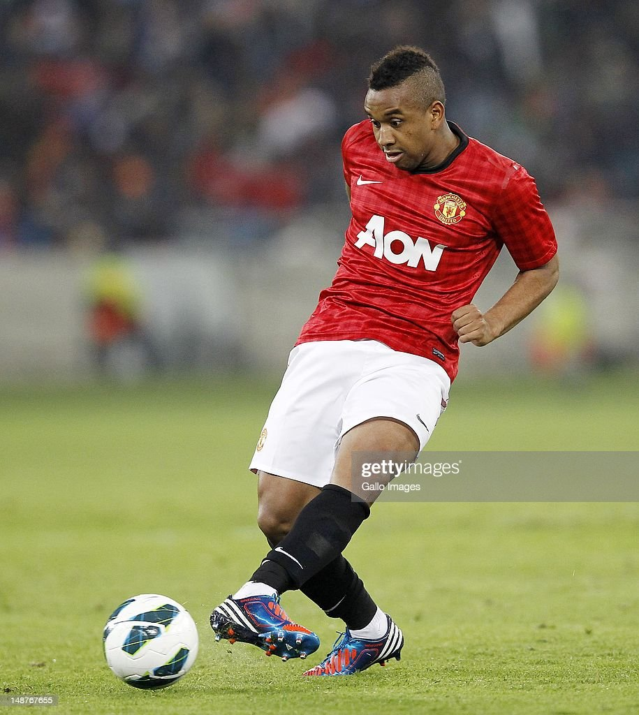 Anderson of Manchester United in action during the MTN Football Invitational match between Amazulu and Manchester United at Moses Mabhida Stadium on July 18, 2012 in Durban, South Africa