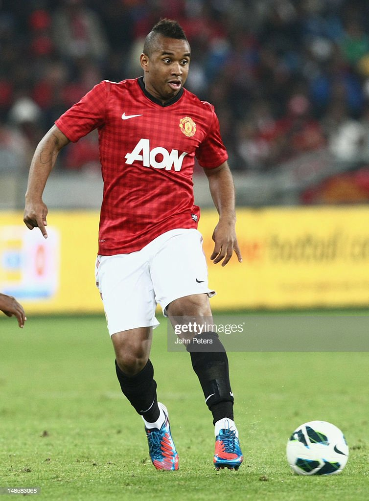 Anderson of Manchester United in action during the pre-season friendly between AmaZulu FC and Manchester United at Moses Mabhida Stadium on July 18, 2012 in Durban, South Africa.