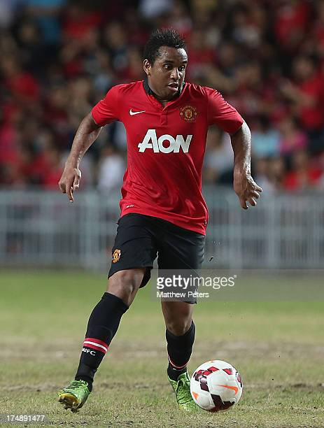Anderson of Manchester United in action during the preseason friendly match between Kitchee FC and Manchester United as part of their preseason tour...