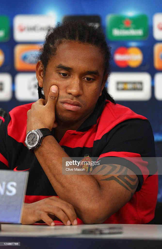 Anderson of Manchester United looks on during a press conference ahead of the UEFA Champions League Group C match between SL Benfica and Manchester United at the Estadio da Luz on September 13, 2011 in Lisbon, Portugal.