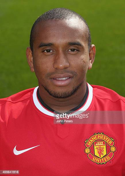 Anderson of Manchester United poses during the annual club photocall at Old Trafford on September 16 2014 in Manchester England