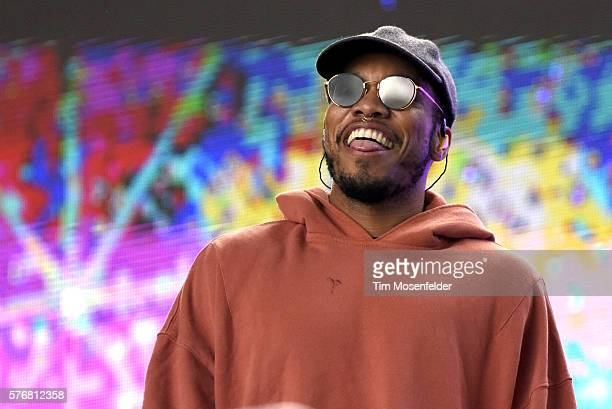 Anderson Paak of Anderson Paak and the Free Nationals performs during the Pemberton Music Festival on July 17 2016 in Pemberton Canada