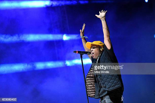 Anderson Paak of Anderson Paak The Free Nationals performs on Camp Stage during day two of Tyler the Creator's 5th Annual Camp Flog Gnaw Carnival at...
