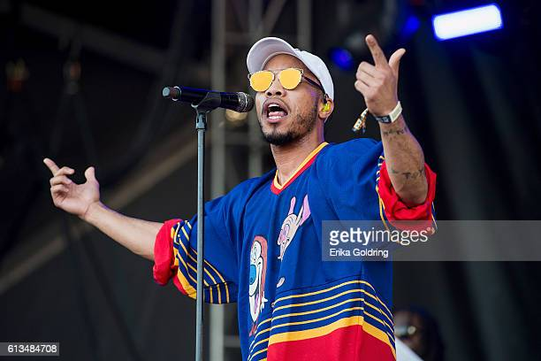 Anderson Paak performs during The Austin City Limits Music Festival 2016 at Zilker Park on October 8 2016 in Austin Texas