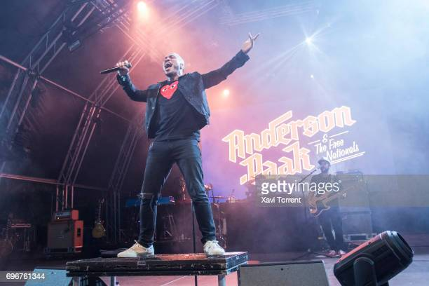 Anderson Paak performs on stage during day 3 of Sonar 2017 on June 16 2017 in Barcelona Spain