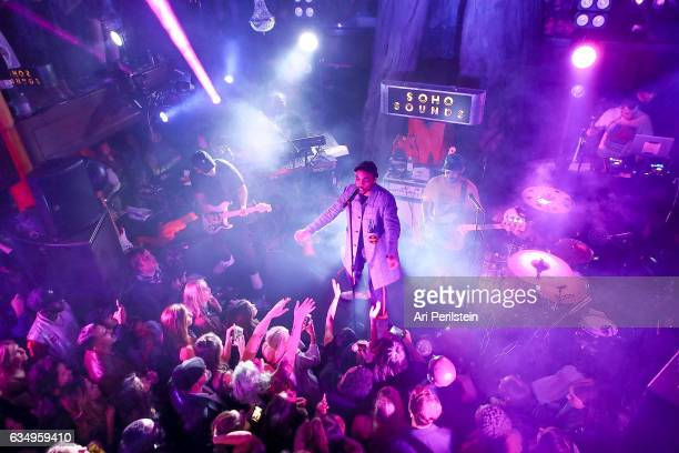 Anderson Paak The Free Nationals perform at Soho Sounds LA hosted by Soho House with Samsung BMW of Beverly Hills Bacardi on February 11 2017 in...