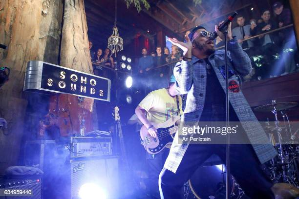 Anderson Paak The Free Nationals perform at Soho Sounds LA hosted by Soho House with Samsung BMW of Beverly Hills Bacardi on February 11 2017 in Los...