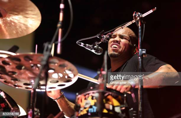 Anderson Paak The Free Nationals perform onstage during day 1 of FYF Fest 2017 on July 21 2017 at Exposition Park in Los Angeles California