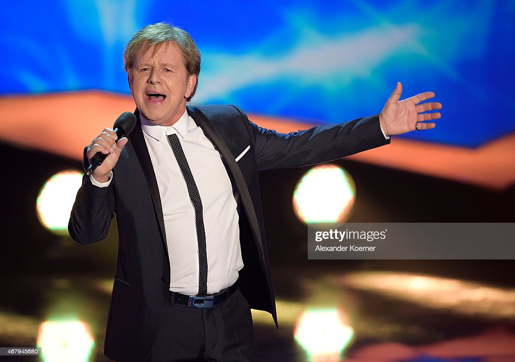 G.G. Anderson performs during the national tv show 'Willkommen bei Carmen Nebel' at TUI Arena on March 28, 2015 in Hanover, Germany.