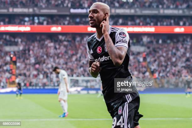 Anderson Souza Conceicao of Besiktas JK celebrate his goalduring the Turkish Spor Toto Super Lig football match between Besiktas JK and Kasimpasa AS...