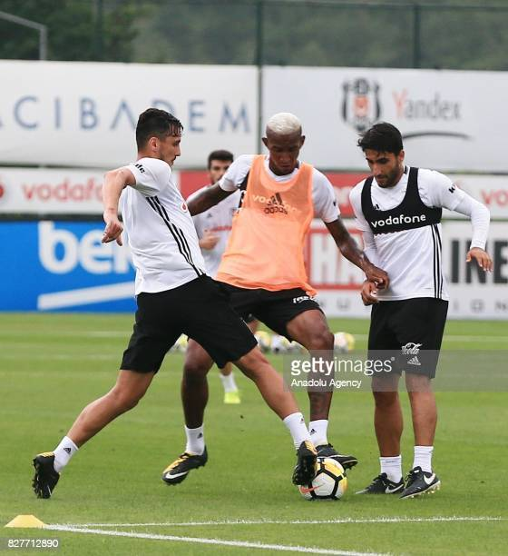 Anderson Talisca of Besiktas attends a training session ahead of the Turkish Spor Toto Super Lig new season match between Besiktas and Antalyaspor at...