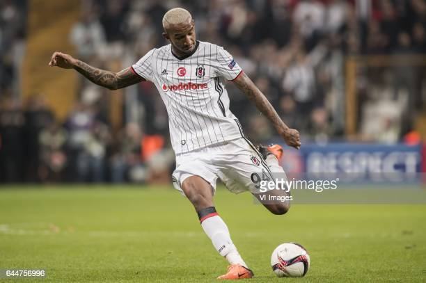 Anderson Talisca of Besiktas JKduring the UEFA Europa League round of 16 match between Besiktas JK and Hapoel Beer Sheva on February 23 2017 at the...