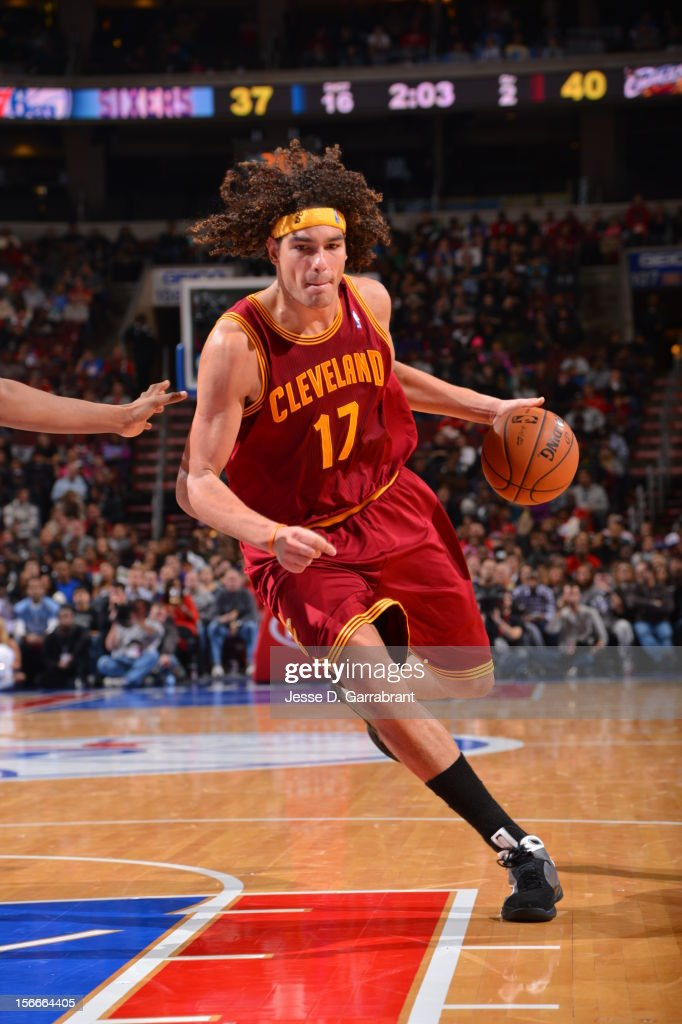 Anderson Varejao #17 of the Cleveland Cavaliers handles the ball against the Philadelphia 76ers at the Wells Fargo Center on November 18, 2012 in Philadelphia, Pennsylvania.