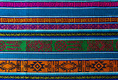 Detail of the typical traditional Andes textiles that can be found in Ecuador, Peru and Bolivia.