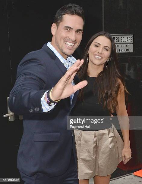 Andi Dorfman and Josh Murray from 'The Bachelorette' are seen leaving 'Good Morning America'on July 29 2014 in New York City