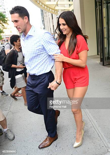 Andi Dorfman and Josh Murray from 'The Bachelorette' are seen on July 29 2014 in New York City