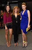 Andi Dorfman Nicole Miller and Christiane Seidel attend the Nicole Miller show during Spring 2016 New York Fashion Week at The Gallery Skylight at...
