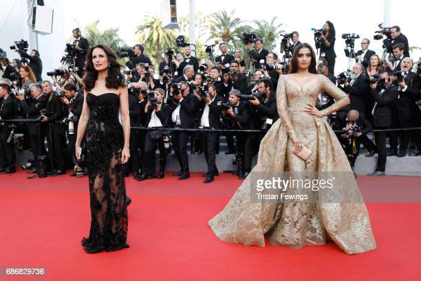 Andie MacDowell and Sonam Kapoor attends the 'The Killing Of A Sacred Deer' screening during the 70th annual Cannes Film Festival at Palais des...