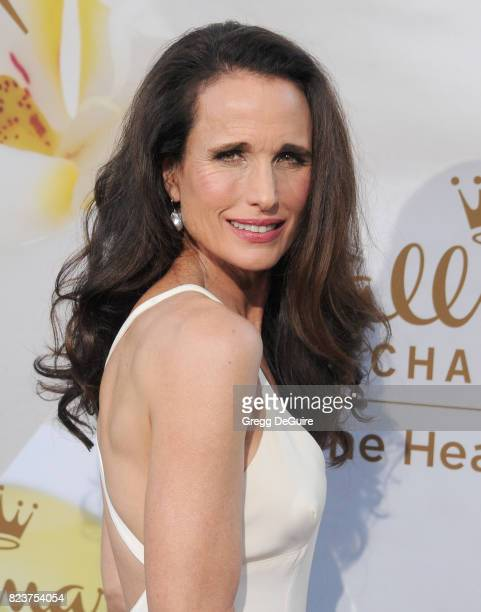 Andie MacDowell arrives at the 2017 Summer TCA Tour Hallmark Channel And Hallmark Movies And Mysteries at a private residence on July 27 2017 in...