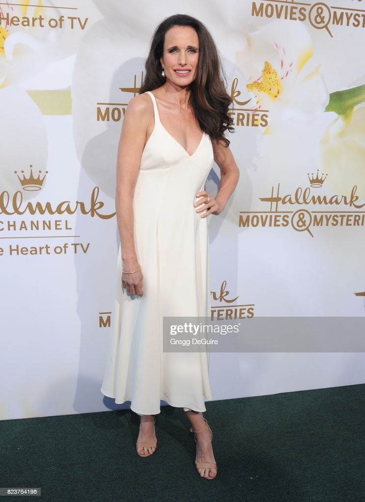 Andie MacDowell arrives at the 2017 Summer TCA Tour - Hallmark Channel And Hallmark Movies And Mysteries at a private residence on July 27, 2017 in Beverly Hills, California.