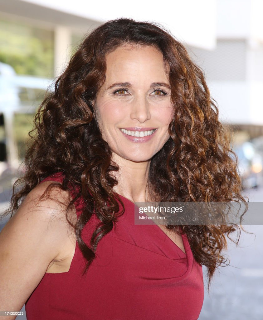 <a gi-track='captionPersonalityLinkClicked' href=/galleries/search?phrase=Andie+MacDowell&family=editorial&specificpeople=204572 ng-click='$event.stopPropagation()'>Andie MacDowell</a> arrives at the Television Critic Association's Summer press tour - Hallmark Channel & Hallmark Movie Channel event held at The Beverly Hilton Hotel on July 24, 2013 in Beverly Hills, California.