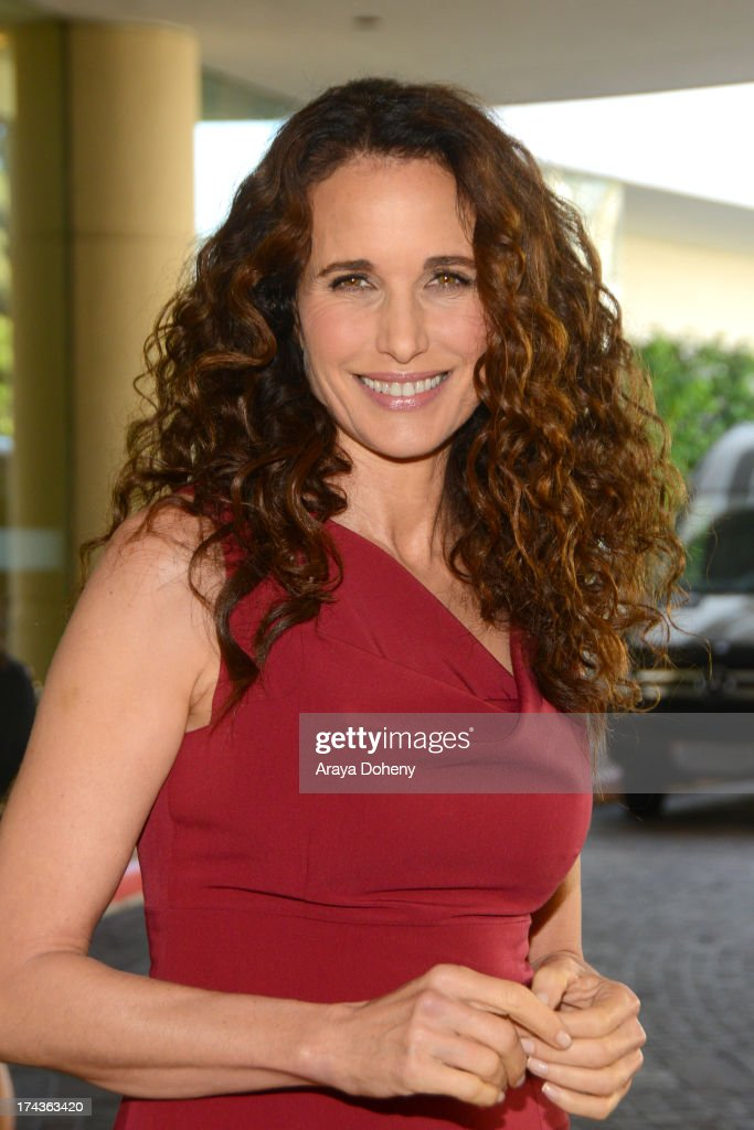 <a gi-track='captionPersonalityLinkClicked' href=/galleries/search?phrase=Andie+MacDowell&family=editorial&specificpeople=204572 ng-click='$event.stopPropagation()'>Andie MacDowell</a> arrives at the Television Critic Association's Summer press tour - Hallmark Channel & Hallmark Movie Channel party at The Beverly Hilton Hotel on July 24, 2013 in Beverly Hills, California.