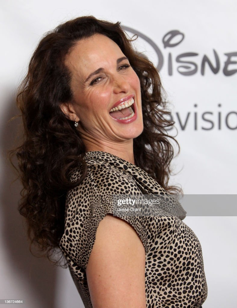 Andie MacDowell arrives to Disney ABC Television Group's 'TCA Winter Press Tour' at the Langham Huntington Hotel on January 10, 2012 in Pasadena, California.