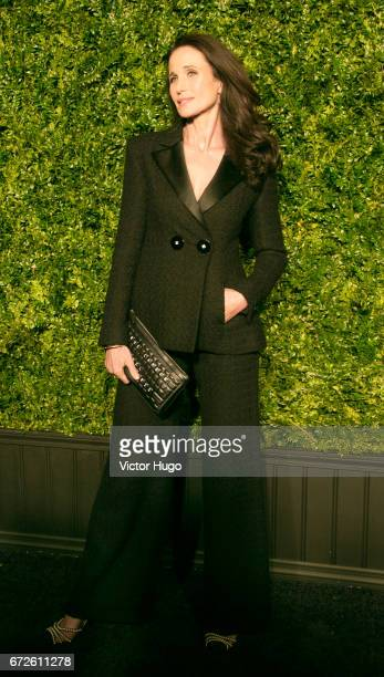 Andie MacDowell attends CHANEL Tribeca Artists Dinner at Balthazer on April 24 2017 in New York City