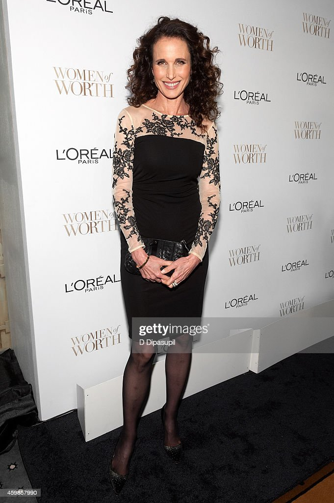 Andie MacDowell attends L'Oreal Paris' Ninth Annual Women of Worth Awards at The Pierre Hotel on December 2 2014 in New York City