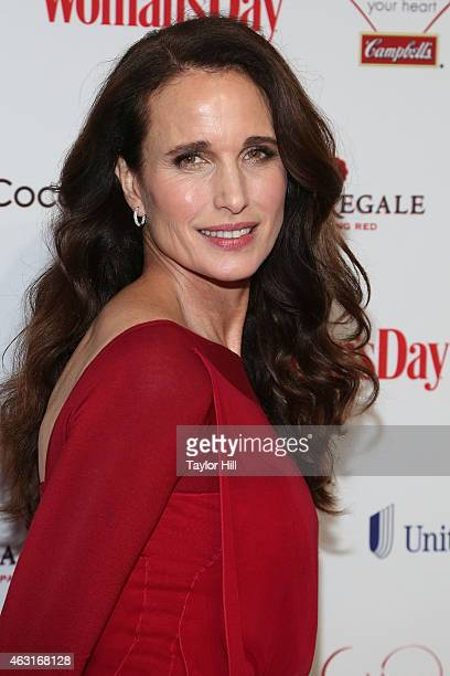 Andie MacDowell attends the 12th Annual Woman's Day Red Dress Awards at 10 Columbus Circle on February 10 2015 in New York City