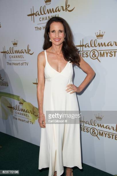 Andie MacDowell attends the 2017 Summer TCA TourHallmark Channel And Hallmark Movies And Mysteries at a private residence on July 27 2017 in Beverly...