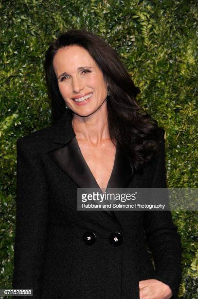 Andie MacDowell attends the 2017 Tribeca Film Festival Chanel Artists Dinner on April 24 2017 in New York City